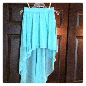 Hi lo sheer mini skirt from H &M.